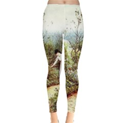 Lady And Scenery Leggings  by vintage2030