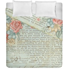 Rose Book Page Duvet Cover Double Side (california King Size) by vintage2030