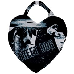 Street Dogs Giant Heart Shaped Tote by Valentinaart