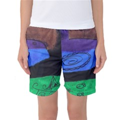 Purple Whale Women s Basketball Shorts by snowwhitegirl