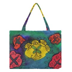Cross Flowers Medium Tote Bag by snowwhitegirl