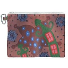 Slanted Green Houses Canvas Cosmetic Bag (xxl) by snowwhitegirl