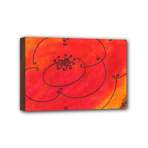 Flower Mini Canvas 6  X 4