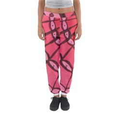 Red Fan Women s Jogger Sweatpants by snowwhitegirl