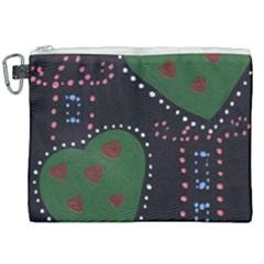 Christmas Hearts Canvas Cosmetic Bag (xxl) by snowwhitegirl