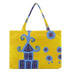Blue House Medium Tote Bag by snowwhitegirl