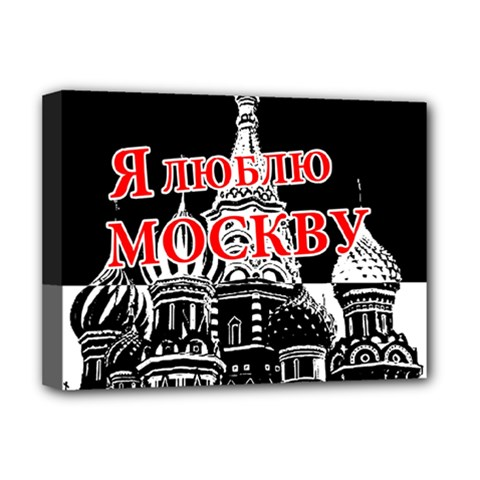 Moscow Deluxe Canvas 16  X 12   by Valentinaart