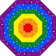 Sparkly Rainbow Flag Straight Umbrellas by Valentinaart
