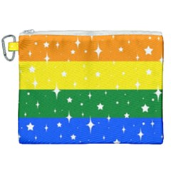 Sparkly Rainbow Flag Canvas Cosmetic Bag (xxl) by Valentinaart