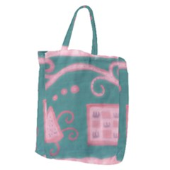 A Pink Dream Giant Grocery Zipper Tote
