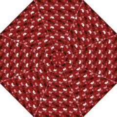 Snow Sleigh Deer Red Folding Umbrellas by snowwhitegirl
