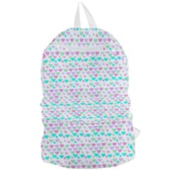 Hearts Butterflies White 1200 Foldable Lightweight Backpack by snowwhitegirl