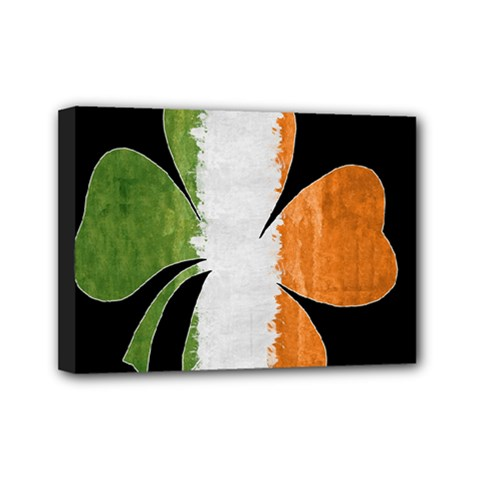 Irish Clover Mini Canvas 7  X 5