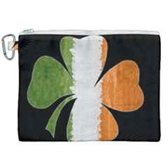Irish Clover Canvas Cosmetic Bag (xxl) by Valentinaart