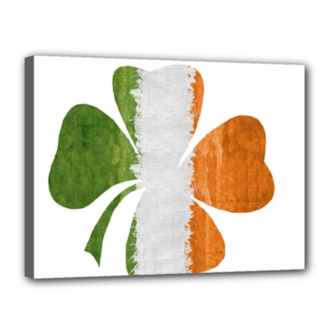 Irish Clover Canvas 16  X 12  by Valentinaart
