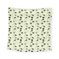 Heart Cherries Mint Square Tapestry (small) by snowwhitegirl