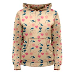 Heart Cherries Cream Women s Pullover Hoodie by snowwhitegirl