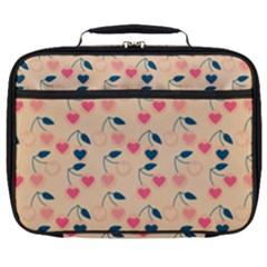 Heart Cherries Cream Full Print Lunch Bag by snowwhitegirl