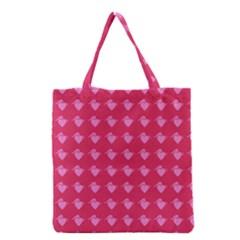 Punk Heart Pink Grocery Tote Bag by snowwhitegirl