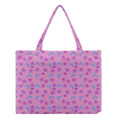 Pink Star Blue Hats Medium Tote Bag by snowwhitegirl