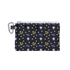 Cakes And Sundaes Black Canvas Cosmetic Bag (small) by snowwhitegirl