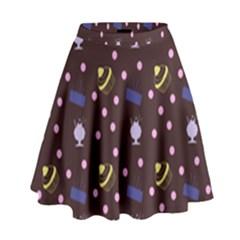 Cakes And Sundaes Chocolate High Waist Skirt by snowwhitegirl