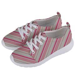 Candy Diagonal Lines Women s Lightweight Sports Shoes by snowwhitegirl