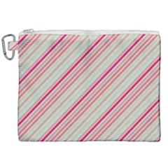 Candy Diagonal Lines Canvas Cosmetic Bag (xxl) by snowwhitegirl