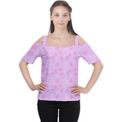 Lilac Dress Cutout Shoulder Tee by snowwhitegirl