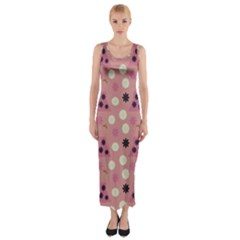 Mauve Dress Fitted Maxi Dress by snowwhitegirl