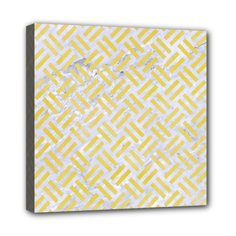 Woven2 White Marble & Yellow Watercolor (r) Multi Function Bag by trendistuff