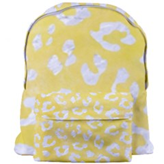 Skin5 White Marble & Yellow Watercolor (r) Giant Full Print Backpack by trendistuff