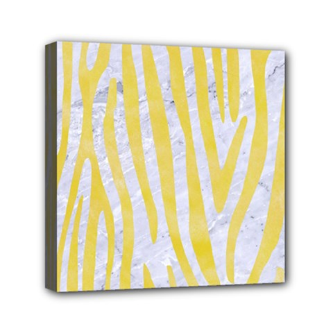 Skin4 White Marble & Yellow Watercolor Canvas Travel Bag by trendistuff