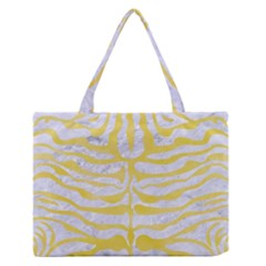 Skin2 White Marble & Yellow Watercolor (r) Zipper Medium Tote Bag