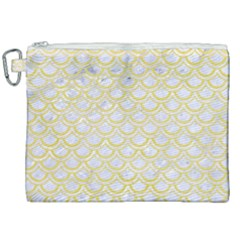 Scales2 White Marble & Yellow Watercolor (r)scales2 White Marble & Yellow Watercolor (r) Canvas Cosmetic Bag (xxl) by trendistuff