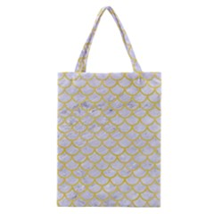 Scales1 White Marble & Yellow Watercolor (r) Classic Tote Bag by trendistuff