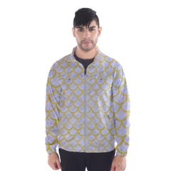 Scales1 White Marble & Yellow Watercolor (r) Wind Breaker (men)