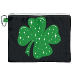 Sparkly Clover Canvas Cosmetic Bag (xxl) by Valentinaart