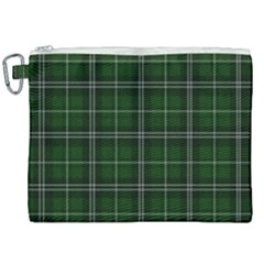 Green Plaid Pattern Canvas Cosmetic Bag (xxl) by Valentinaart