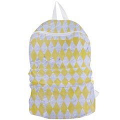 Diamond1 White Marble & Yellow Watercolor Foldable Lightweight Backpack by trendistuff