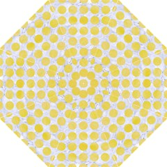 Circles1 White Marble & Yellow Watercolor (r) Folding Umbrellas by trendistuff