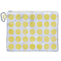 Circles1 White Marble & Yellow Watercolor (r) Canvas Cosmetic Bag (xxl) by trendistuff