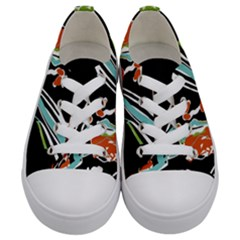 Multicolor Abstract Design Kids  Low Top Canvas Sneakers