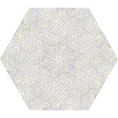 Brick2 White Marble & Yellow Watercolor (r) Mini Folding Umbrellas by trendistuff