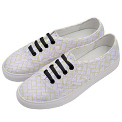 Brick2 White Marble & Yellow Watercolor (r) Women s Classic Low Top Sneakers by trendistuff
