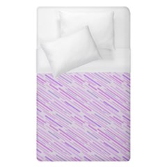 Silly Stripes Lilac Duvet Cover (single Size) by snowwhitegirl