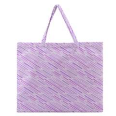 Silly Stripes Lilac Zipper Large Tote Bag by snowwhitegirl