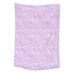Silly Stripes Lilac Large Tapestry by snowwhitegirl