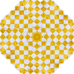 Square2 White Marble & Yellow Marble Straight Umbrellas by trendistuff