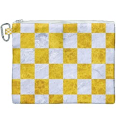 Square1 White Marble & Yellow Marble Canvas Cosmetic Bag (xxxl) by trendistuff